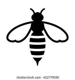 Honey bee or wasp flat vector icon for apps and websites