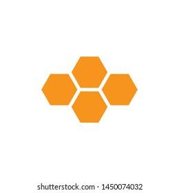 Honey Comb Icon Vector Illustration