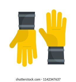 Honey gloves icon. Flat illustration of honey gloves vector icon for web isolated on white