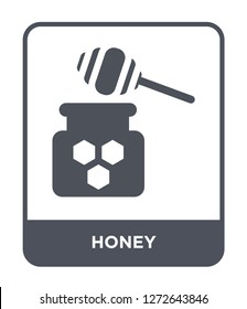 honey icon vector on white background, honey trendy filled icons from Autumn collection, honey simple element illustration