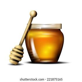 Honey isolated. Vector eps 10