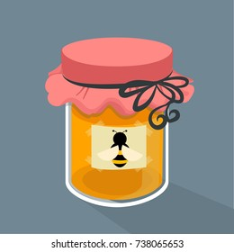 honey jar background