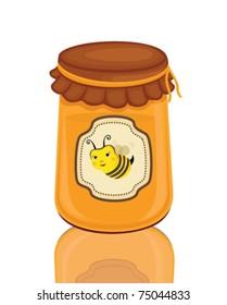 honey jar, isolated