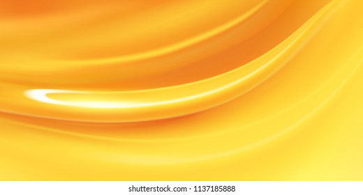 Honey liquid texture, golden honey in 3d illustration for design uses.Realistic vector honey background.Dripping honey seamlessly repeatable