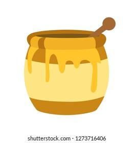 Honey pot emoji vector
