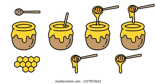 honey vector bear bee polar bear food bakery bake jam character cartoon illustration