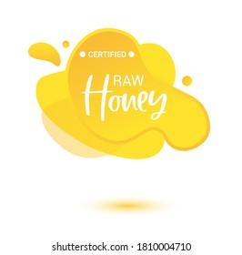 Honey vector label. Bright and shine stickers, labels, tags and banners for honey product. For badges and tags of fresh market, farmers market, eco shop, green bar, beekeeper