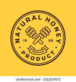 Honey - vector logo/icon illustration label
