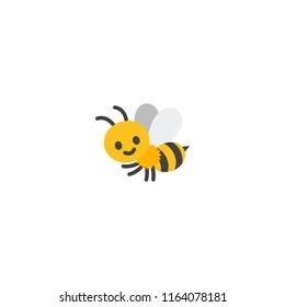 Honeybee vector flat icon