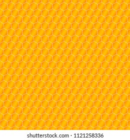 Honeycomb background from a bee hive. Vector illustration of geometric texture. Seamless hexagons pattern for web, print, wallpaper, wrapping, fashion fabric, textile design