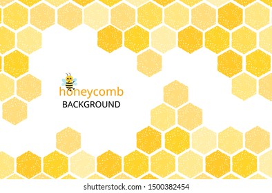 Honeycomb background  with geometric pattern vector illustration.