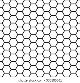 Honeycomb background, seamless hexagons pattern, vector illustration