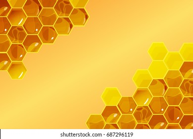 Honeycomb background Vector Illustration