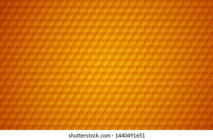 Honeycomb background. Vector pattern for honey, food and bees related subjects