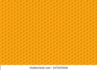Honeycomb background, yellow hexagon shape that looks beautiful