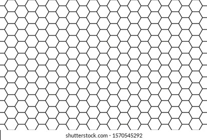 honeycomb black and white pattern, vector illustration