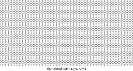 Honeycomb black and white seamlessly Horizontally,texture,background  vector Eps10.