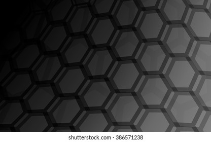 honeycomb dark background abstract vector