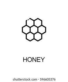 Honeycomb flat icon. Single high quality outline symbol of honey for web design or mobile app. Thin line signs of for design logo, visit card, etc. Outline pictogram of honeycomb