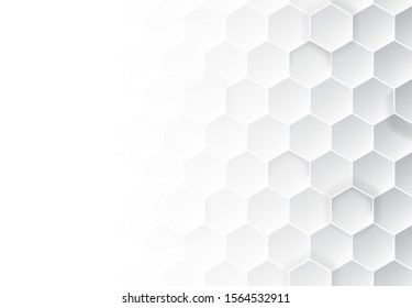 Honeycomb grey background. Vector illustration for card