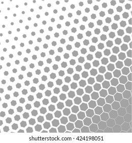 Honeycomb halftone Vector abstract background