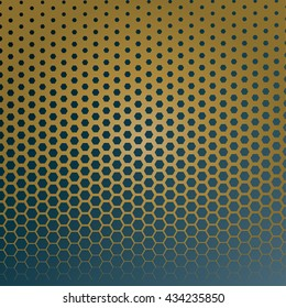 Honeycomb halftone Vector abstract background.hexagon halftone abstract background. -EPS 10