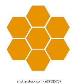 honeycomb icon on white background. flat style design.