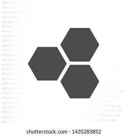 honeycomb icon vector . Lorem Ipsum Illustration design