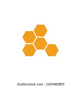 Honeycomb icon vector. Simple design on white background.