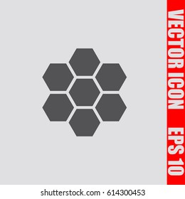 Honeycomb icon,sign,symbol isolated in flat style.Vector illustration.