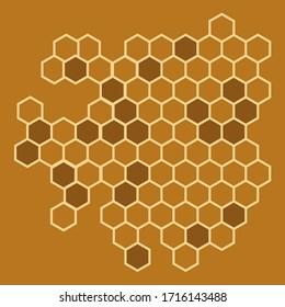 Honeycomb illustration for your desugn: textile, poster, wallpaper