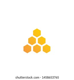 Honeycomb ilustration logo vector template