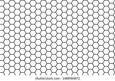 Honeycomb monochrome honey seamless pattern Vector eps hexagons of geometric shapes mosaic background