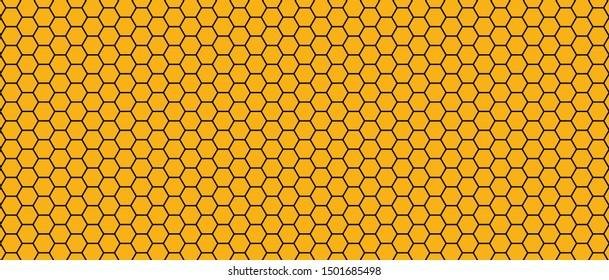 Honeycomb monochrome honey seamless pattern Vector cell cells mosaic background raster fun funny honey bee honeycombs Beehive orange yellow pattern ornament hexagon vintage hexagons geometric shapes