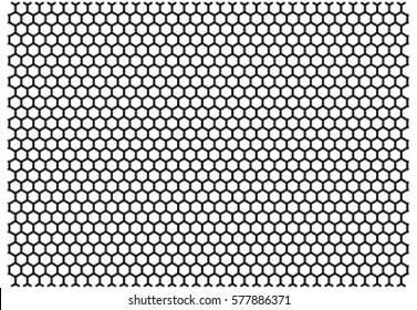 honeycomb Octagon line mesh pattern in vector.