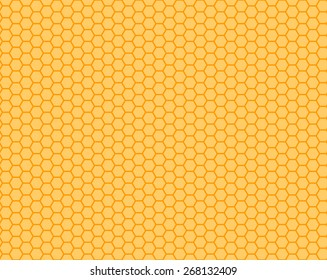 Honeycomb orange and yellow  seamless. Vector illustration.