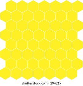 Honeycomb pattern.