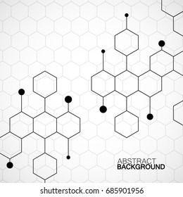 Honeycomb pattern background. Vector illustration. Eps 10