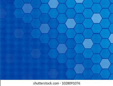 Honeycomb pattern.Vector art.