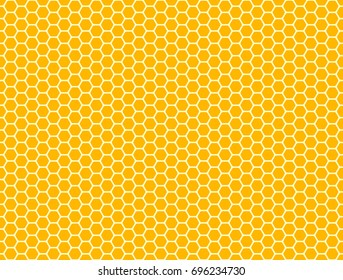 Honeycomb seamless pattern. Vector hexagon background