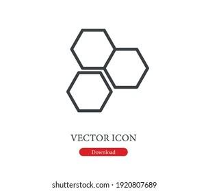 Honeycomb vector icon.  Editable stroke. Symbol in Line Art Style for Design, Presentation, Website or Apps Elements, Logo. Pixel vector graphics - Vector