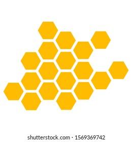 Honeycomb. Vector Illustration of Geometric Hexagons Background