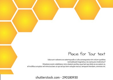 Honeycomb White and Gold Background