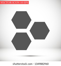 honeycombs vector icon 10 eps