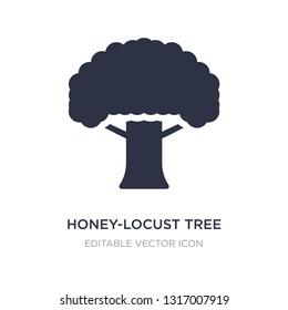 honey-locust tree icon on white background. Simple element illustration from Nature concept. honey-locust tree icon symbol design.