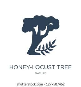 honey-locust tree icon vector on white background, honey-locust tree trendy filled icons from Nature collection, honey-locust tree vector illustration