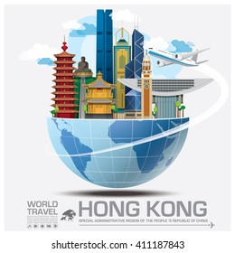Hong Kong Landmark Global Travel And Journey Infographic Vector Design Template