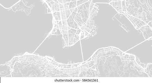 Hong Kong vector city map