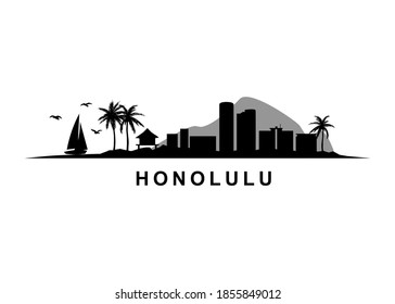 Honolulu Hawaii Island Skyline Landscape