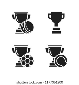 honor icon. 4 honor vector icons set. trophy icons for web and design about honor theme